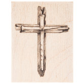 Cross with Nails Rubber Stamp