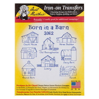 Born In A Barn Iron-On Transfers