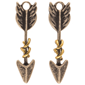 Burnished Arrow Earring Charms