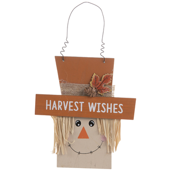 Harvest Wishes Scarecrow Ornament