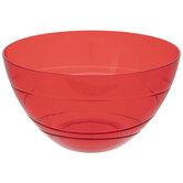 Red Round Spiral Bowl