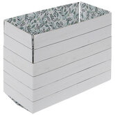 White Wood-Paneled Print Mailing Box