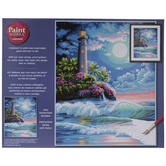 Lighthouse In Moonlight Paint By Number Kit