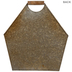 Gold Galvanized Metal Wall Bucket - Large