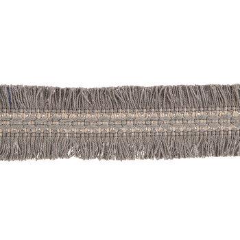Gray & Beige Cut Edge Wide Braid Gimp Trim