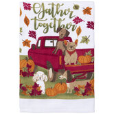 Gather Together Dogs Kitchen Towel