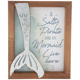 Salty Pirate & His Mermaid Wood Wall Decor