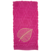 Pink & Gold Leaf Kitchen Towel
