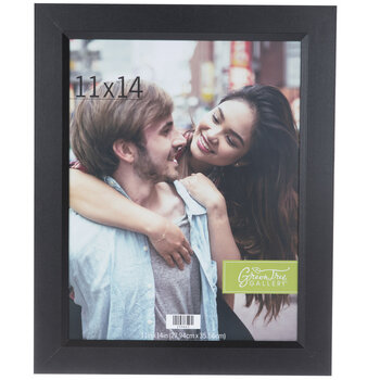 Black Beveled Edge Wood Wall Frame