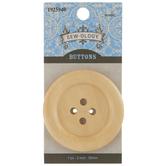 Blonde Wood Button