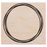 Overlap Circle Frame Rubber Stamp