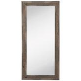 Brown Layered Wood Wall Mirror