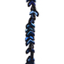Blue Chevron Glass Bead Strand