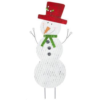 Corrugated Snowman Metal Garden Stake
