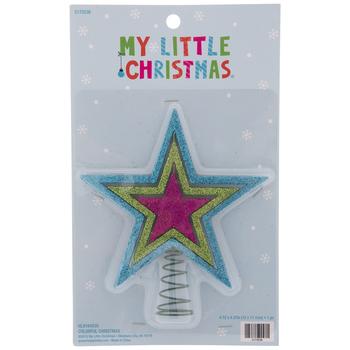 Pink Glitter Star Mini Tree Topper