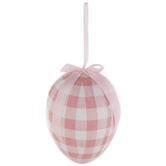 Pink Buffalo Check Egg Ornament