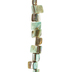 Green Dyed Shell Bead Chip Strand