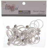 Silver Wedding Ring Favors