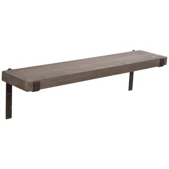 Rustic Wood Plank Wall Shelf
