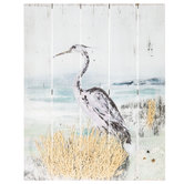 Bird On Shore Wood Wall Decor
