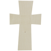 Squared Baltic Birch Wood Wall Cross - Medium