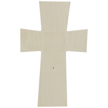 Squared Baltic Birch Wood Wall Cross