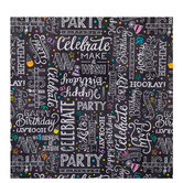 Happy Birthday Chalkboard Gift Wrap