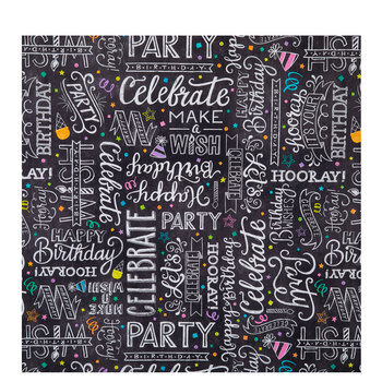 Happy Birthday Chalkboard Gift Wrap