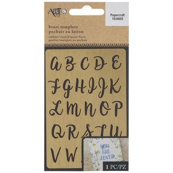 Brass Script Alphabet Stencil