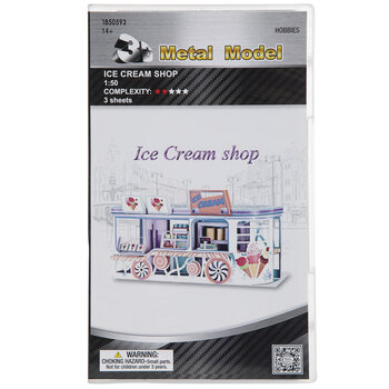 Ice Cream Shop 3D Metal Kit