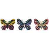 Butterfly Rhinestone Brooches