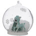 Turquoise Deer & Tree Snow Globe Ornament