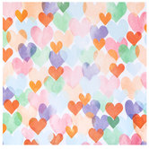 "Bright Hearts Scrapbook Paper - 12"" x 12"""