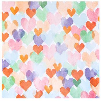 """Bright Hearts Scrapbook Paper - 12"""" x 12"""""""