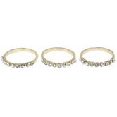 White Rhinestone Rings - Size 8