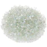 Crystal Rainbow Hexagon Glass Beads - Size 1