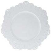 White Doily Plate Charger