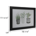 Potted Plants Framed Wall Decor