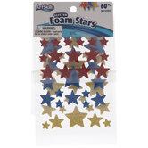 Glitter Foam Star Stickers