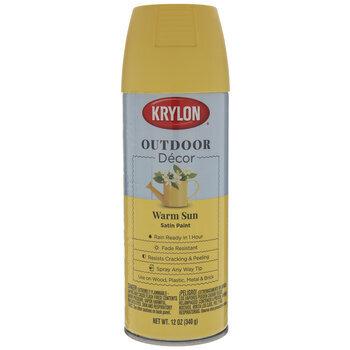 Warm Sun Krylon Outdoor Decor Satin Spray Paint