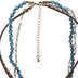 Chain, Bead & Strip Necklace
