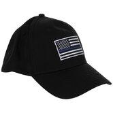 Blue Line American Flag Baseball Cap