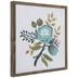 Blue Floral Wood Wall Decor