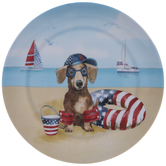 Dachshund 4th Of July Plate