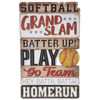 Softball Wood Wall Decor