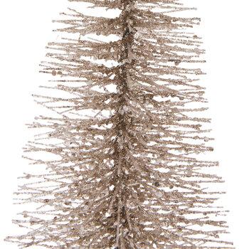 """Champagne Glitter Bristle Tree - 16"""""""