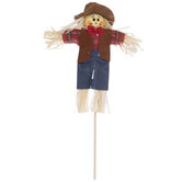 Red Plaid Scarecrow Pick