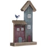 Wood Beach House With Bird