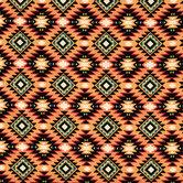 Bright Southwest Argyle Cotton Fabric