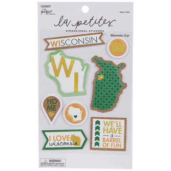 Wisconsin Icon 3D Stickers